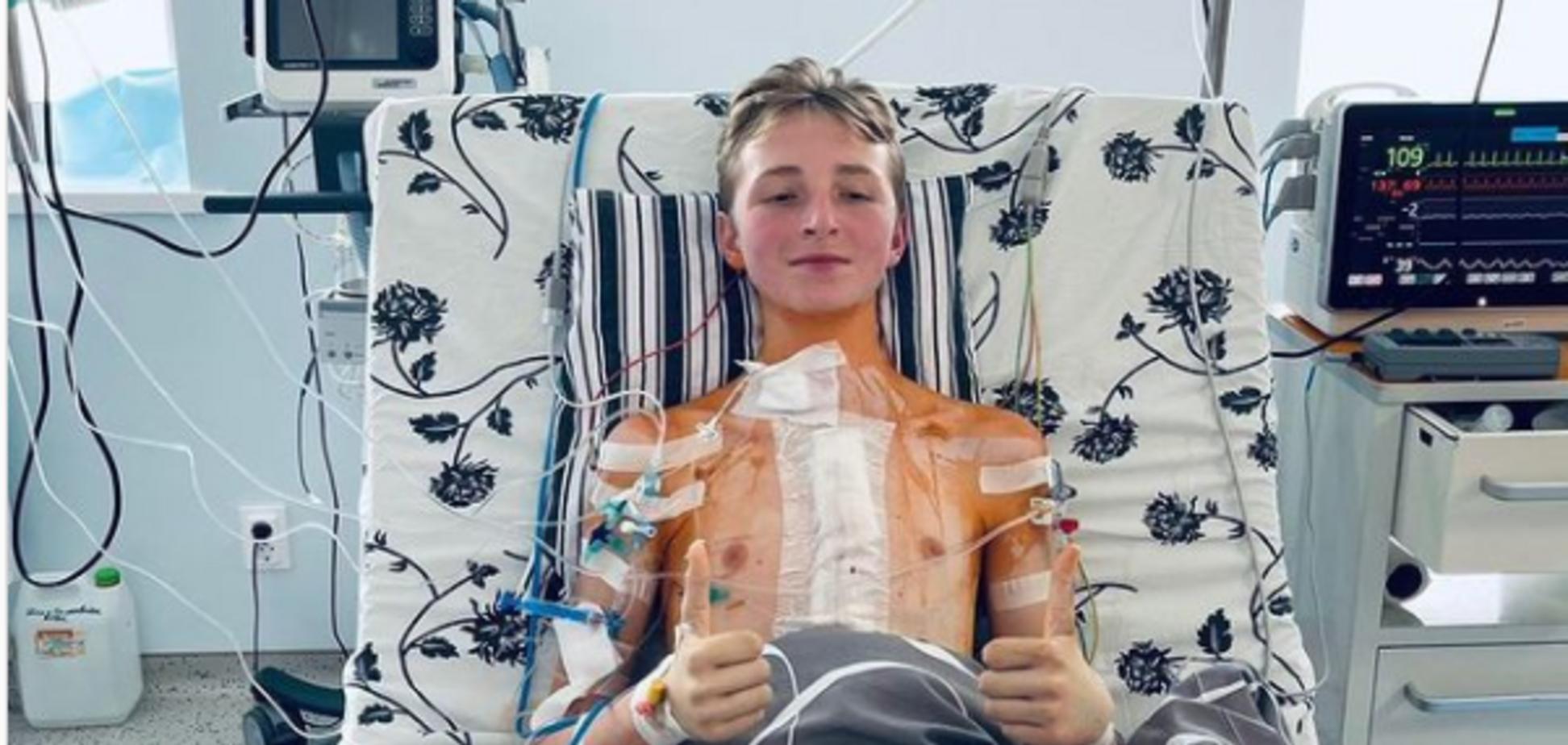 Підліток, якому вперше в Україні пересадили серце, розповів про свій стан. Фото
